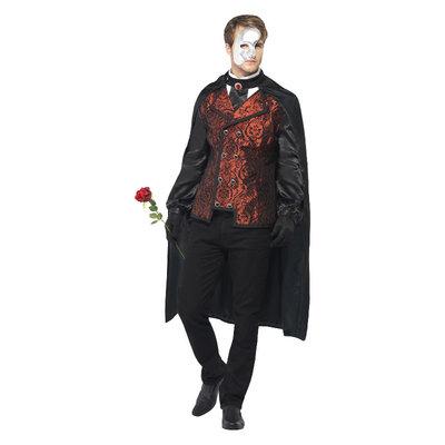 Donkere Opera Maskerade Kostuum - Zwart