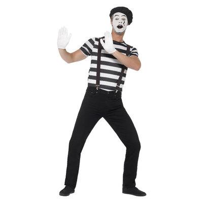Mannelijke Mimespeler Kostuum - Zwart