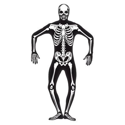Skelet Second Skin Kostuum - Zwart