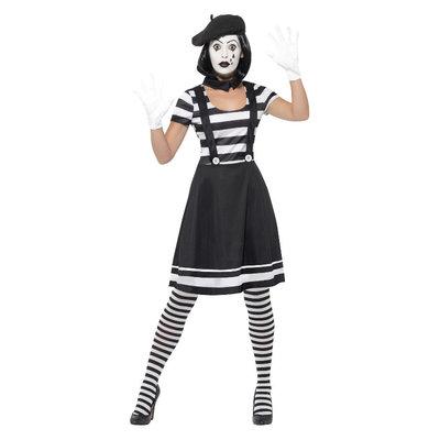 Mimespeler dames Kostuum - Zwart