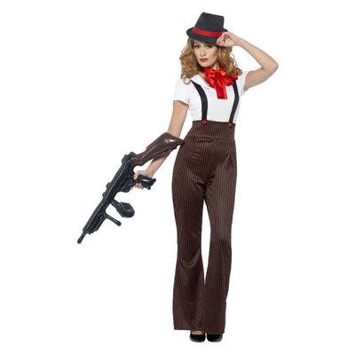Glam Gangster Kostuum - Zwart & Rood