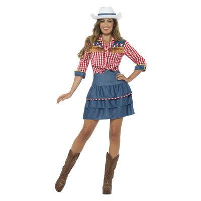 Rodeo Dame kostuum - Blauw