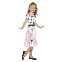 Smiffys '50 Poedel Meisje Kostuum - Roze