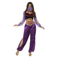 Smiffys Arabische Prinses Kostuum - Paars