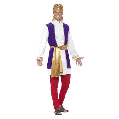 Arabische Prins Kostuum - Veelkleurig