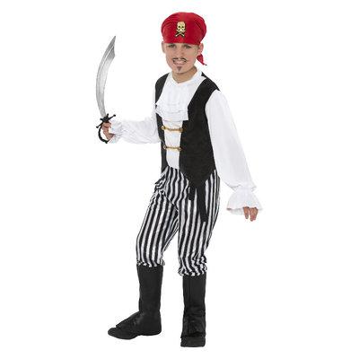 Piraat Kostuum - Zwart-wit