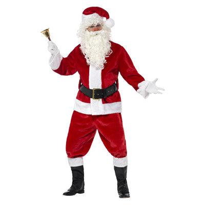 Deluxe Santa Kostuum En Hoed - Rood