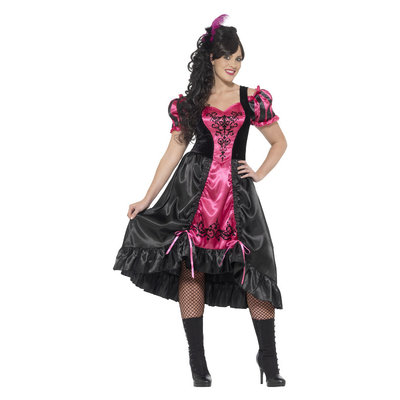 Sassy Saloon Plussize dameskostuum - Roze
