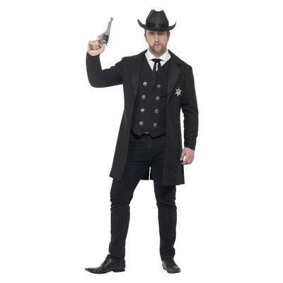 Sheriff  Plussize Kostuum - Zwart