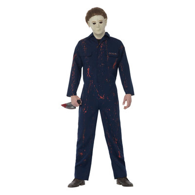 Halloween H20 Michael Myers Kostuum - Blauw