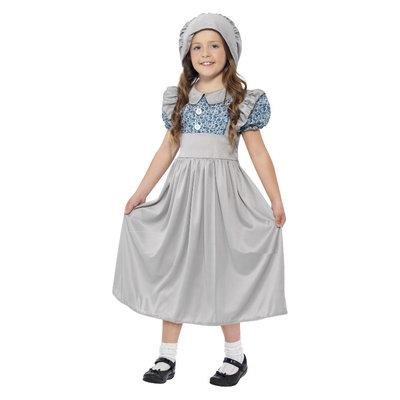 Victoriaanse School Meisje Kostuum - Grijs