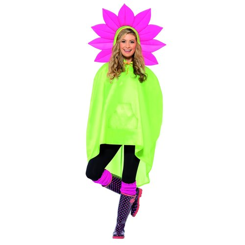 Smiffys Bloem Party Poncho - Groen
