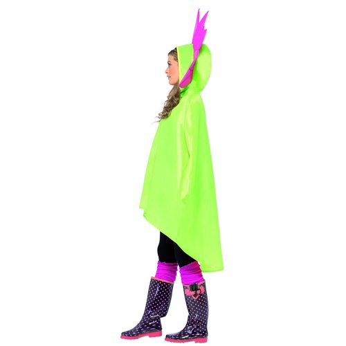 Smiffys Bloem Partij Poncho - Groen