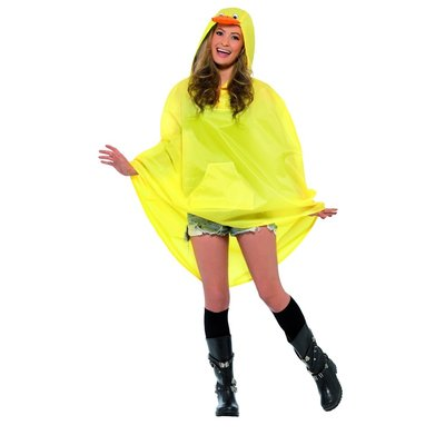 Eend Party Poncho - Geel