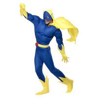 Smiffys Bananaman Gevoerde Kostuum - Blauw