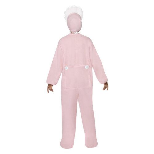 Smiffys Baby kruippakje Kostuum - Roze