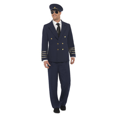 Kostuum Piloot - Marineblauw