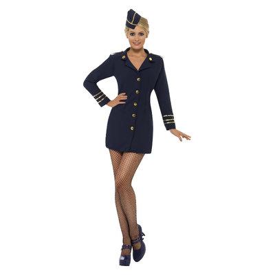 Stewardess Kostuum - Marineblauw