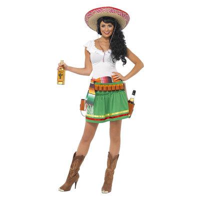 Tequila Shooter Meisje Kostuum - Groen