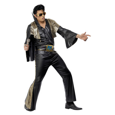 Elvis Kostuum - Zwart En Goud