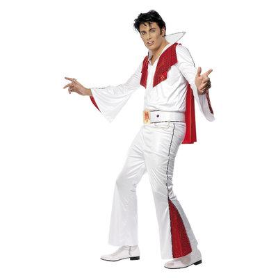Elvis Kostuum - Wit En Rood