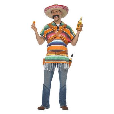 Tequila Shooter Man Kostuum - Oranje En Groen
