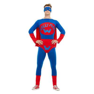 Wallyman Kostuum - Blauw En Rood