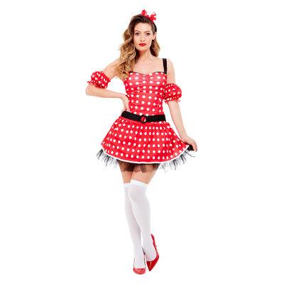 Muis dames kostuum - Rood