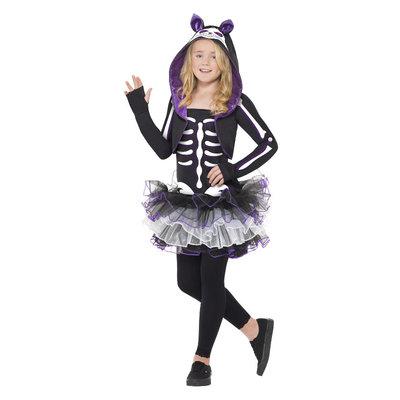 Skelly Kat Kostuum - Zwart
