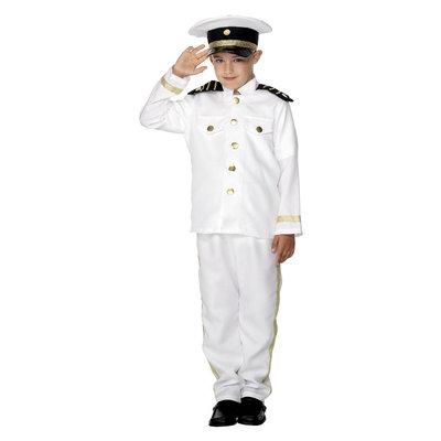 Kapitein Kostuum - Kind - Wit