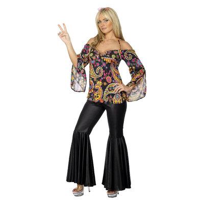 Hippie Kostuum - Vrouw - Zwart