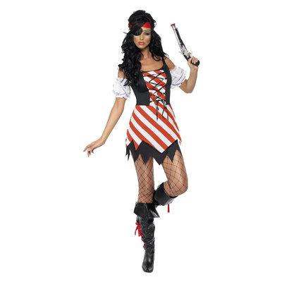 Piraat Kostuum - Rood-wit