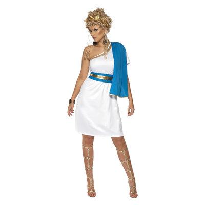 Roman Schoonheid Kostuum - Blauw-wit