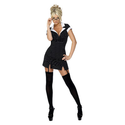 Secretaresse Kostuum - Zwart