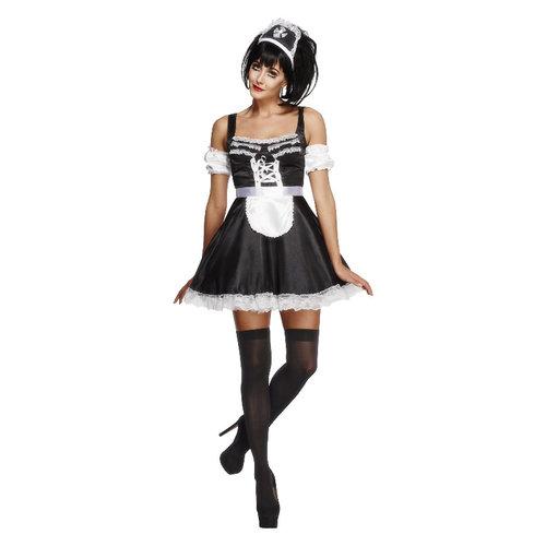 Smiffys FeverFrans kamermeisje Kostuum - Zwart