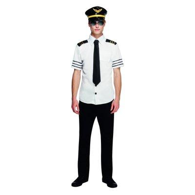 Fever Piloot Kostuum - Zwart