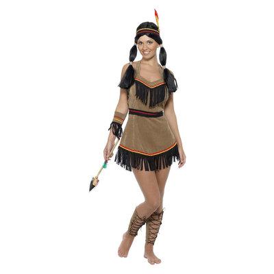 Indiaanse Kostuum - Bruin