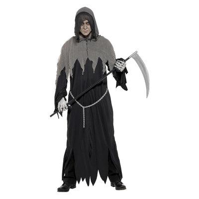Grim Reaper Robe Kostuum - Zwart