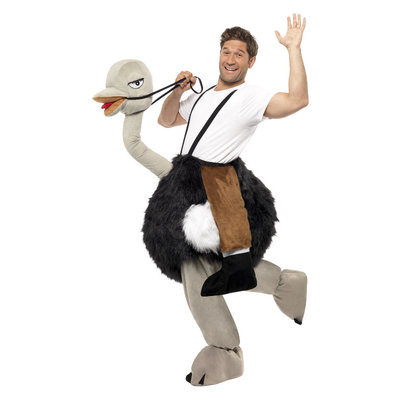 Carry me Struisvogel Kostuum - Zwart