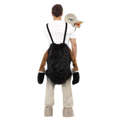 Smiffys Carry me Struisvogel Kostuum - Zwart