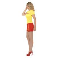 Smiffys Baywatch Strand Kostuum - Geel