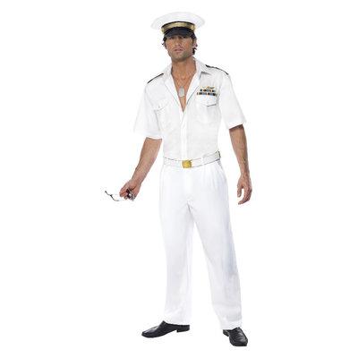 Kapitein Kostuum - Wit