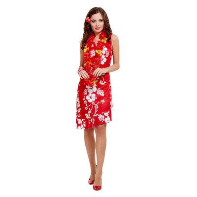 Hawaiiaanse Schoonheid Kostuum - Rood