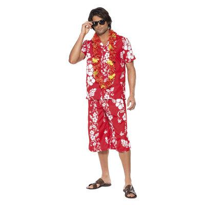 Hawaiian Hunk Kostuum - Rood
