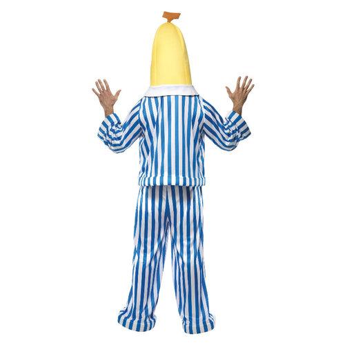Smiffys Bananen In Pyjama Kostuum - Blauw