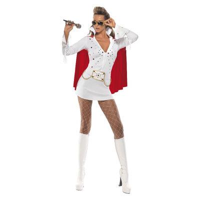 Elvis Viva Las Vegas Kostuum - Wit