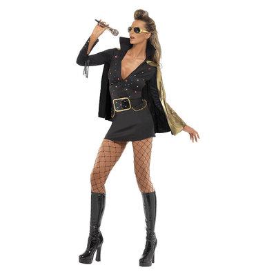 Elvis Viva Las Vegas Kostuum - Zwart