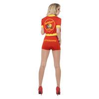 Smiffys Baywatch Dames Kostuum - Rood
