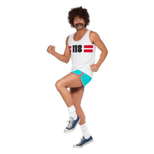 Smiffys 118118 Runner Kostuum - Wit