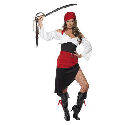 Sexy Piraten Wench Kostuum  - Zwarte